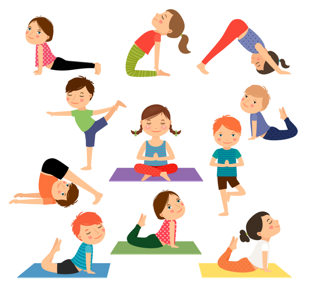 Yoga for kidz where. Exercising clipart childrens