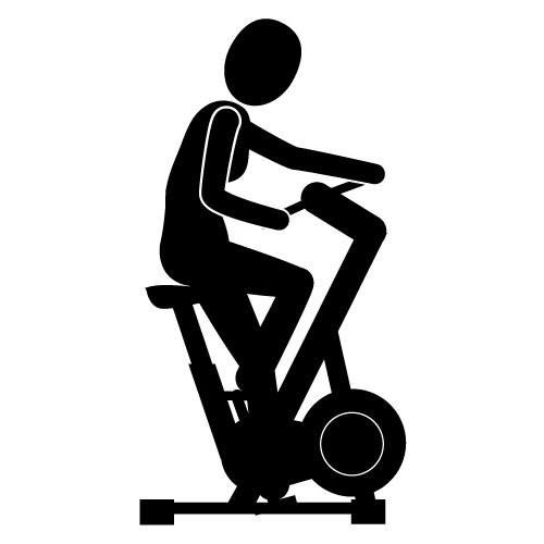Stationary bicycle physical clip. Exercising clipart cycling exercise