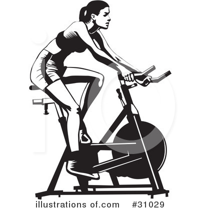 Fitness illustration by david. Exercising clipart cycling exercise