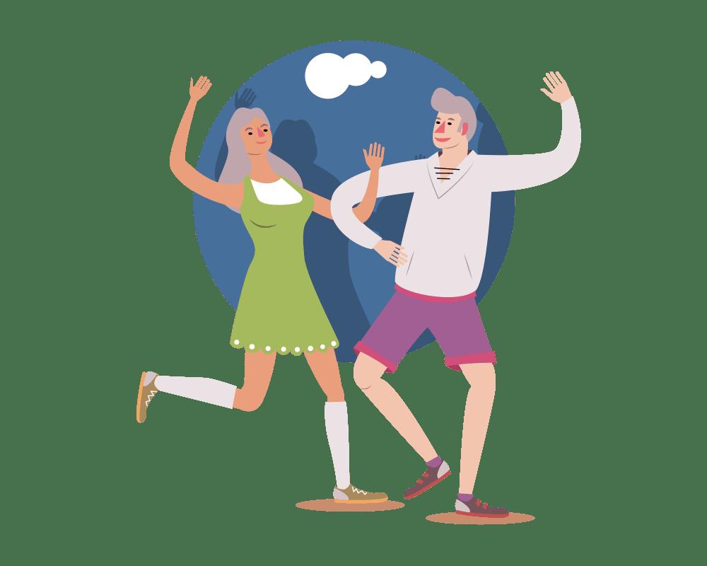 Exercise for seniors a. Exercising clipart elderly