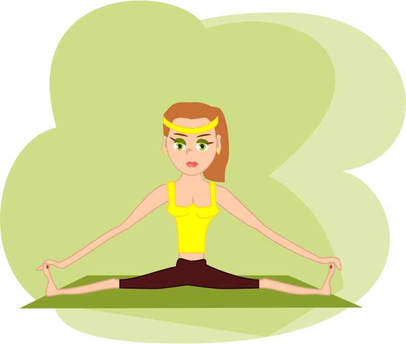 Exercising clipart exercise cartoon. Fitness girl medium image