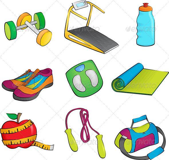 Exercising clipart exercise equipment. Pin by maxim sokolenko