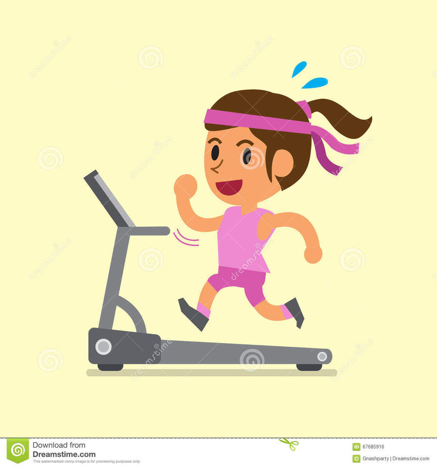 Cartoon boy line illustration. Exercising clipart exercise machine