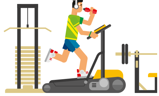 Exercising clipart exercise machine. How to sell equipment