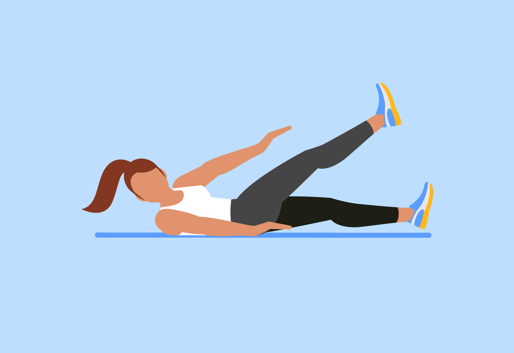 Abs workout a minute. Exercising clipart exercise science