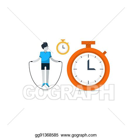 Vector illustration sport gym. Exercising clipart exercise time