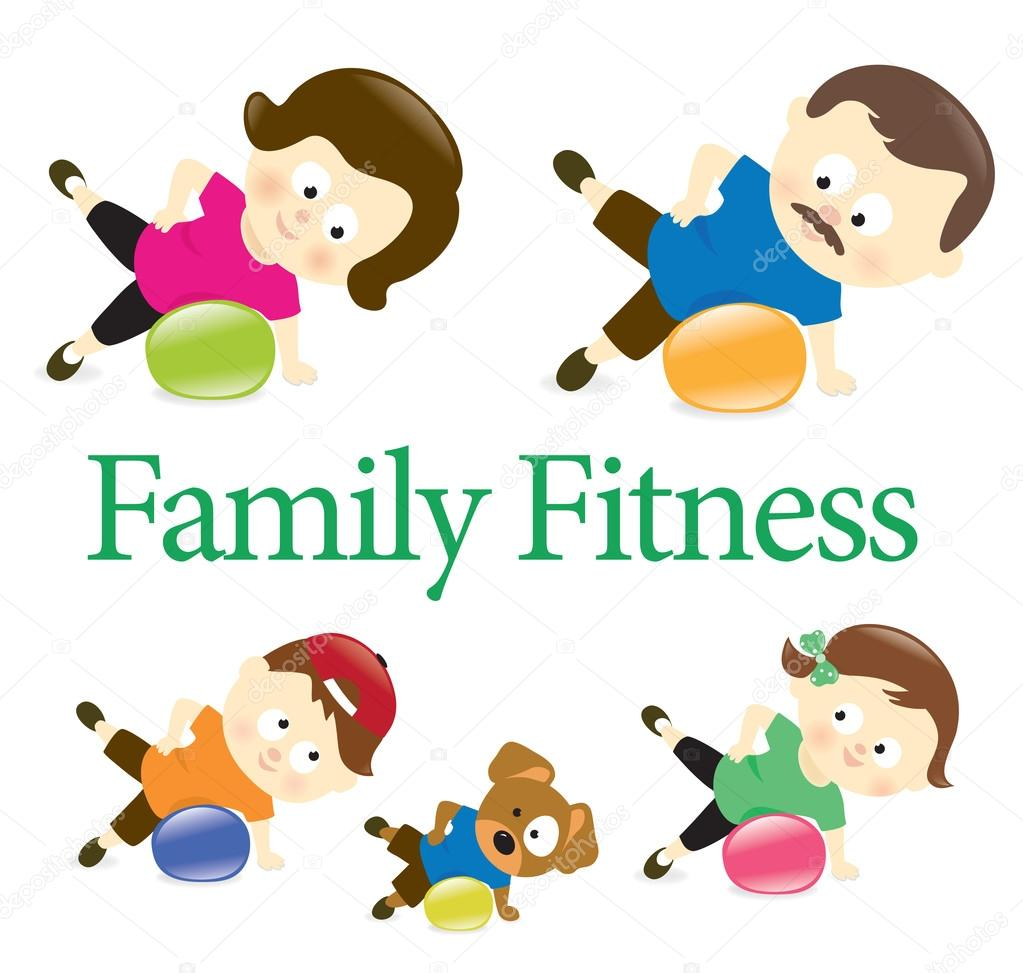 Exercising clipart family exercise. Fitness free download best