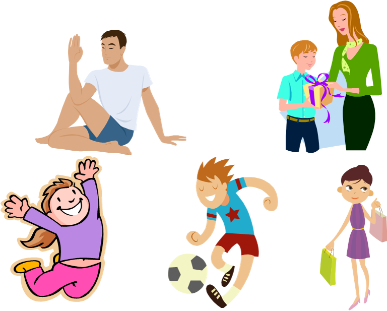 Esl meeting someone new. Exercising clipart family exercise