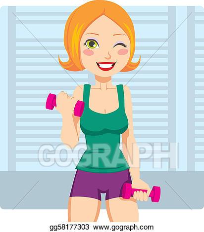 Clip art vector fitness. Exercising clipart girl exercise