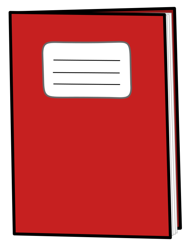Notepad clipart red. Free exercise icon vector