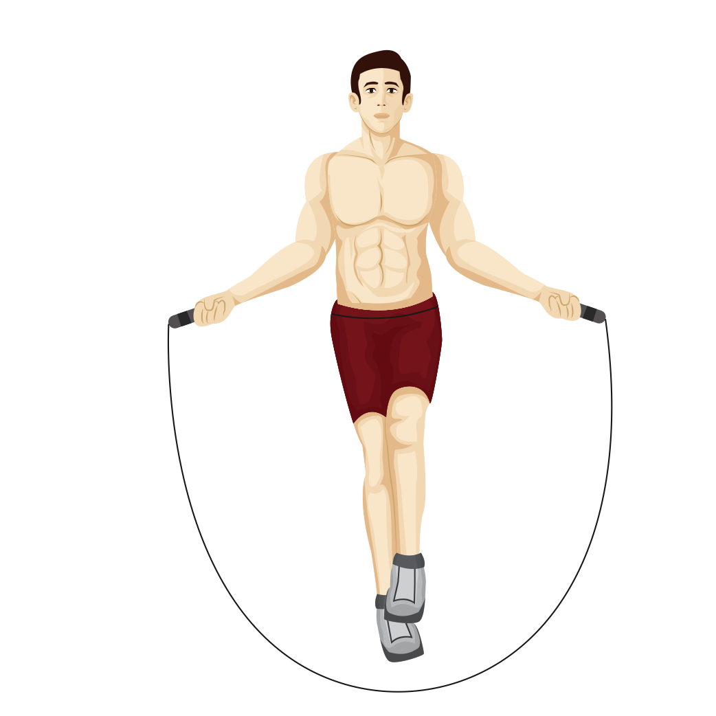 What is the tabata. Exercising clipart jump rope