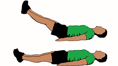 Exercising clipart leg raises. Double raise cartoon complete