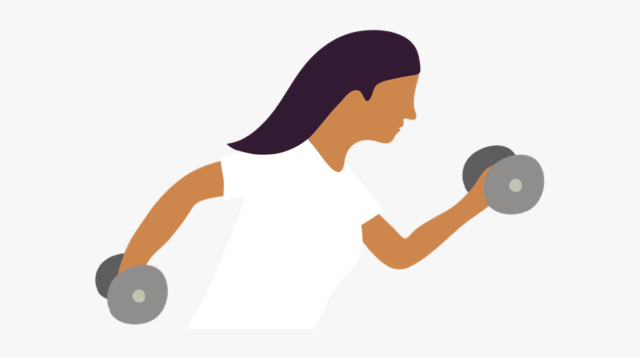 Exercising clipart moderate exercise. Workout physical fitness