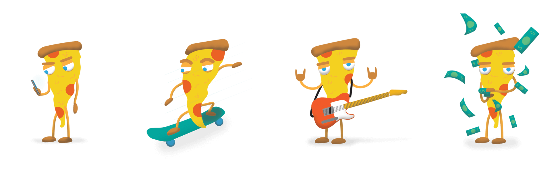 Exercising clipart motion. Pizza stickers alex apostolides
