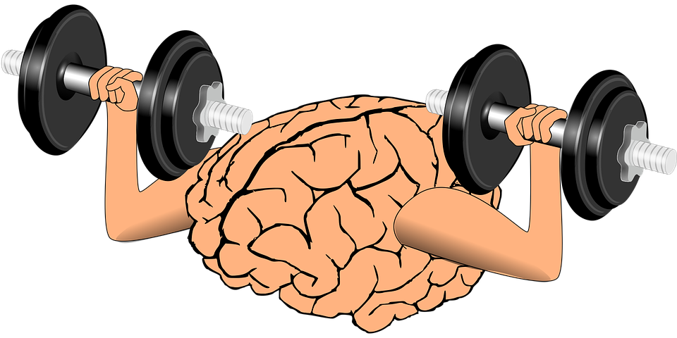 Exercising clipart muscle. The mind connection for