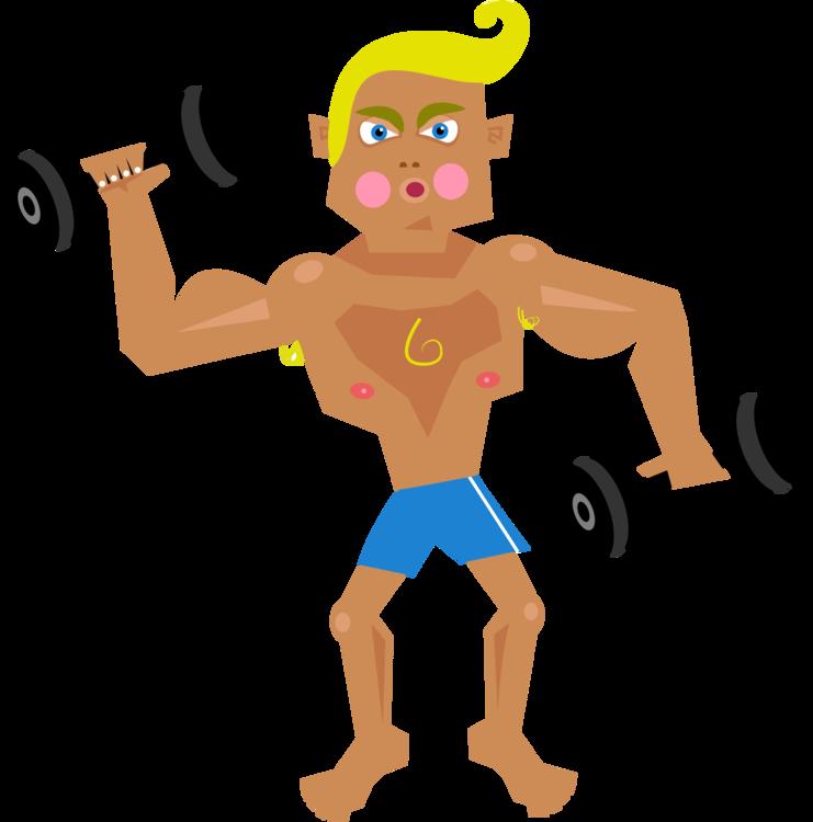Human behavior fictional character. Exercising clipart muscle