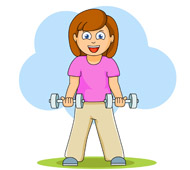 Exercising clipart pag. Free fitness and exercise