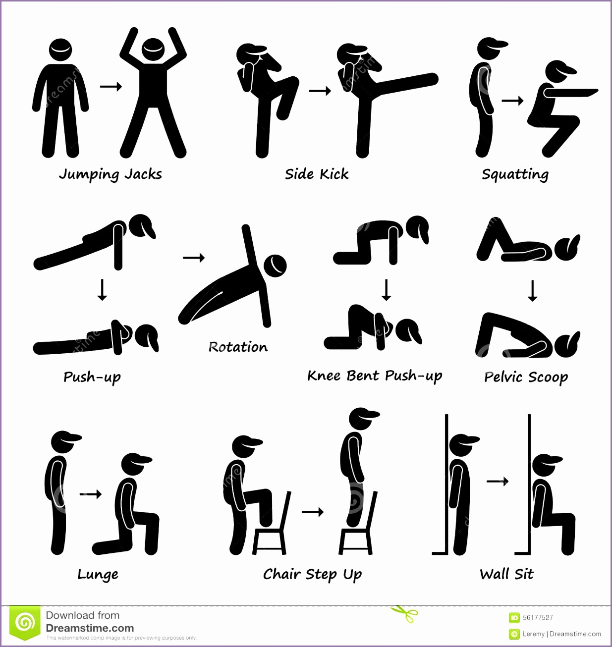 Testing clip art rhc. Exercising clipart physical fitness test