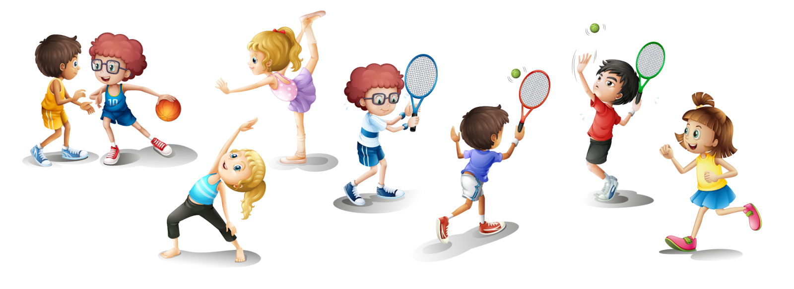 Exercising clipart physical play. Exercise child clip art