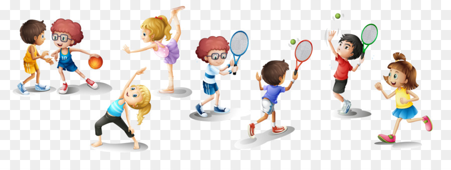 Fitness cartoon exercise child. Exercising clipart physical play