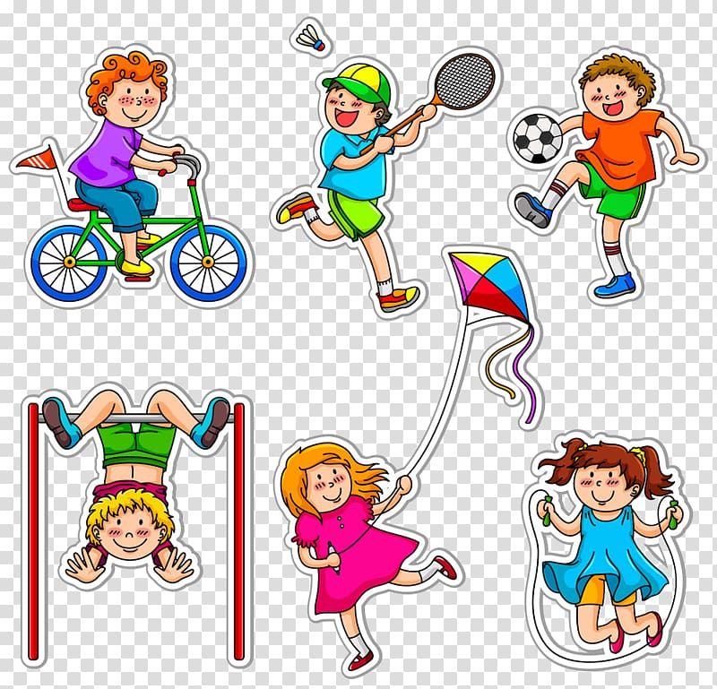 Exercising clipart physical play. Six toddlers exercise child
