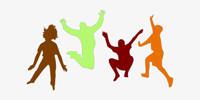 Kids jumping clip art. Exercising clipart physically