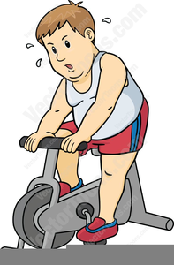 Exercising clipart stationary bike. Exercise free images at