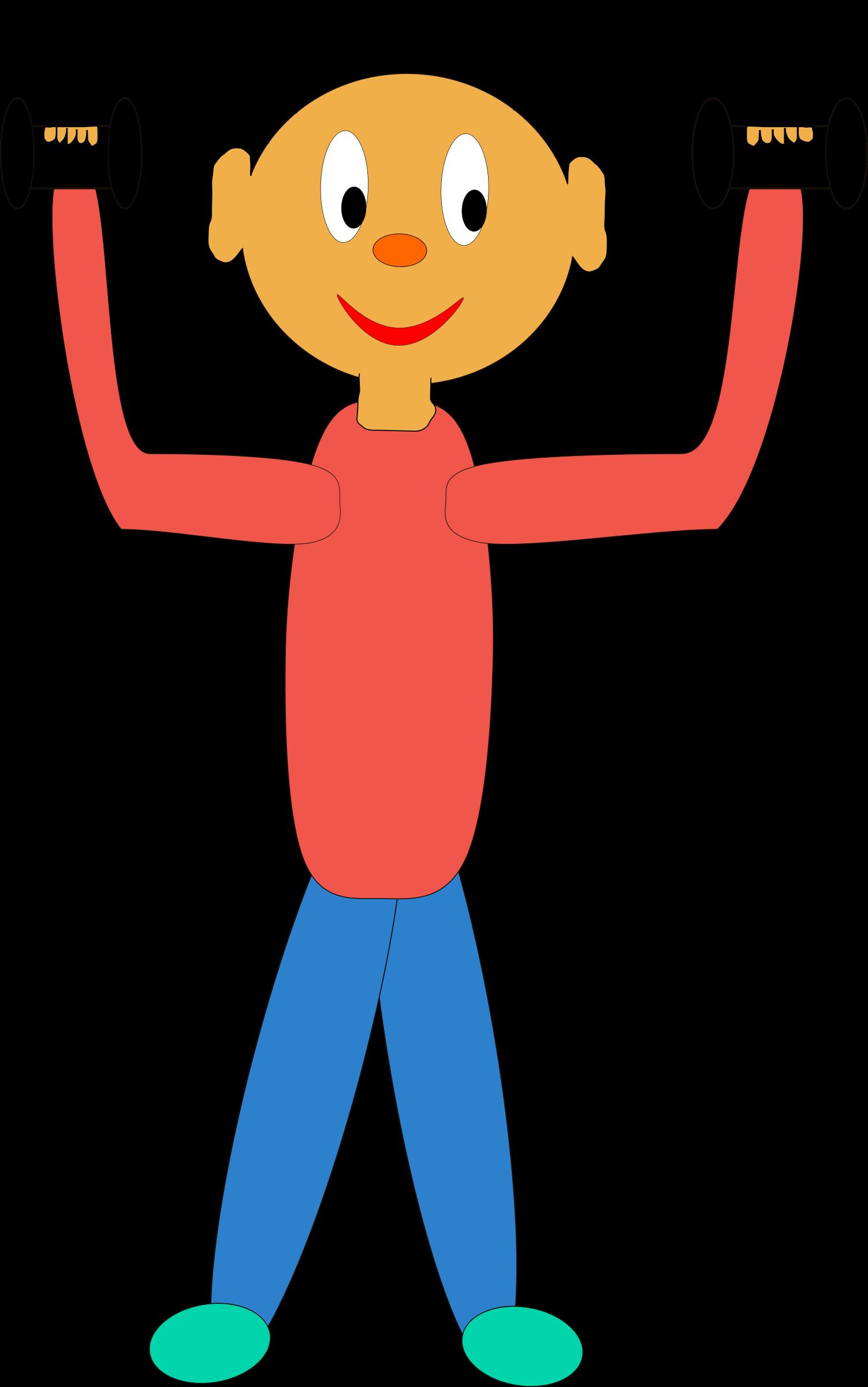 Strengthen. Exercising clipart strength