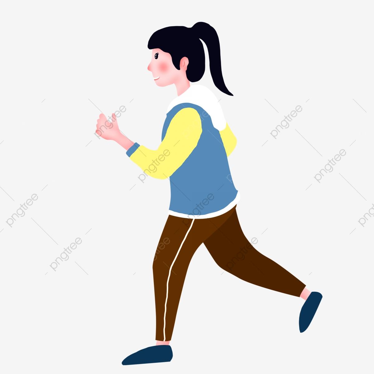 Exercising clipart student exercise. Female doing morning exercises