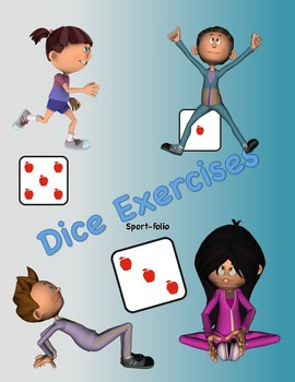 Dice exercises . Exercising clipart student exercise