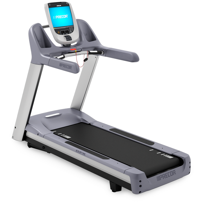 Exercising clipart treadmill. Precor trm