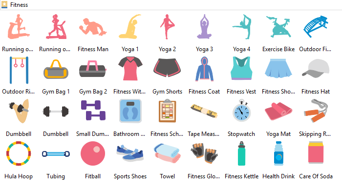 Free fitness cliparts . Exercising clipart vector