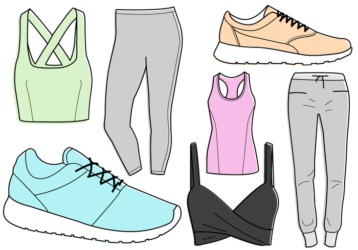 Exercising clipart workout clothes. Free gym cliparts download