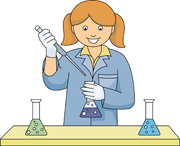 In chemistry panda free. Experiment clipart chemist