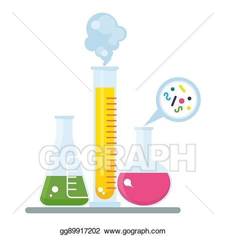 Vector stock tube and. Experiment clipart chemist
