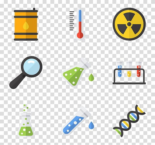 Icons chemistry laboratory science. Experiment clipart computer scientist