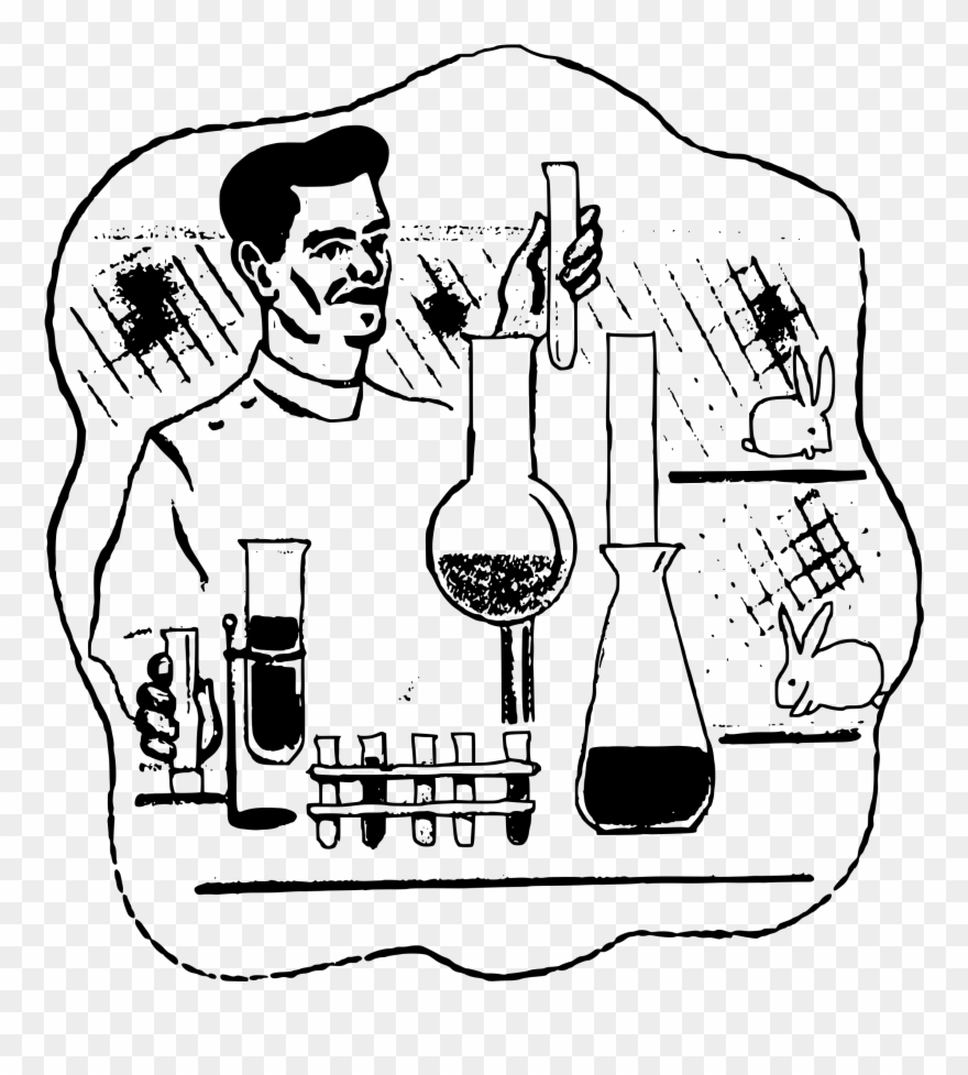 Experiment clipart drawing. In lab png download
