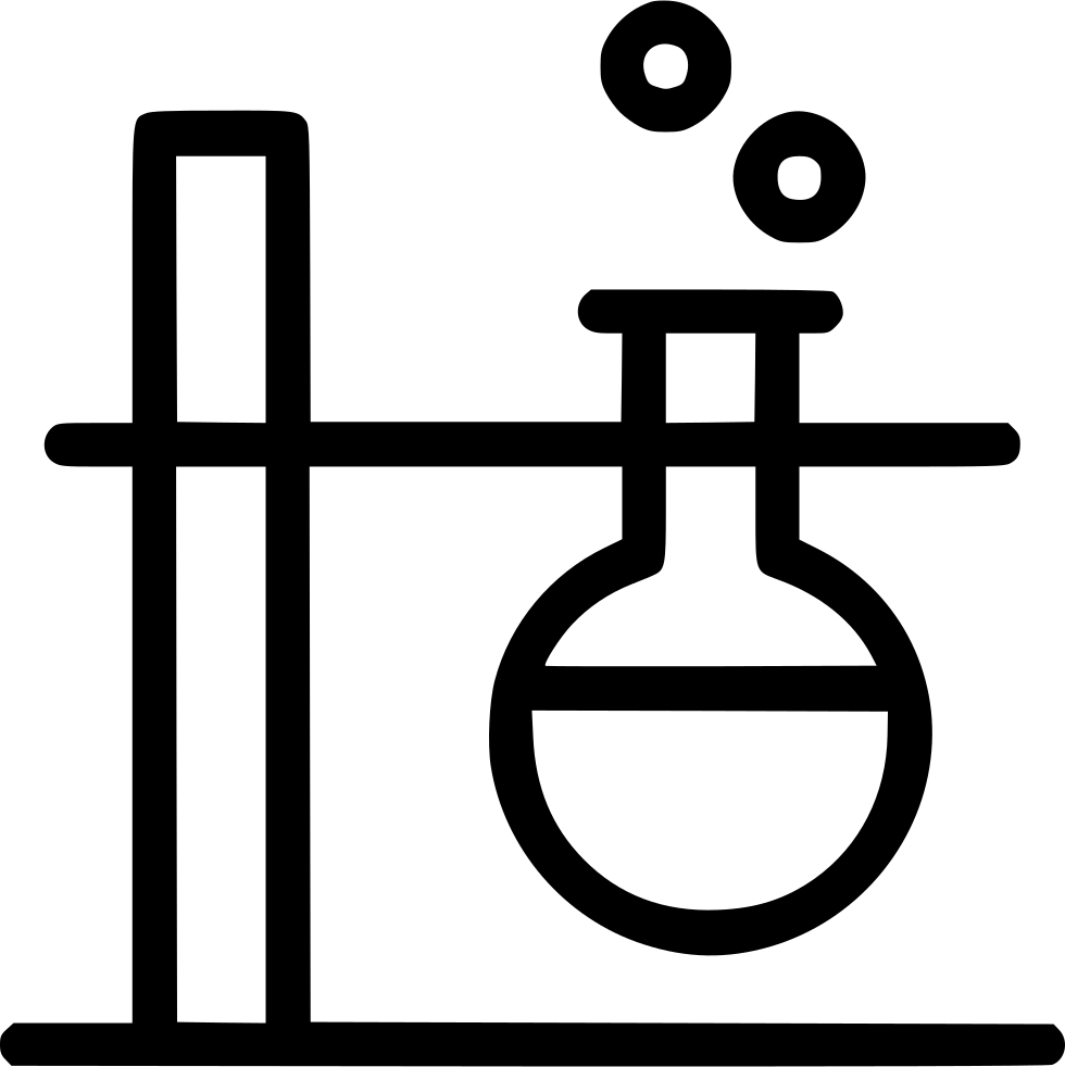 Conical flask laboratory bubble. Lab clipart chemistry experiment