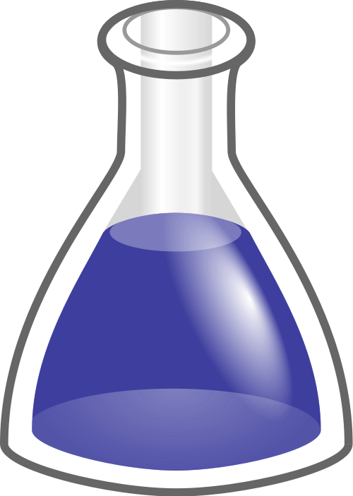 Experiment clipart flask. File conical stylised svg