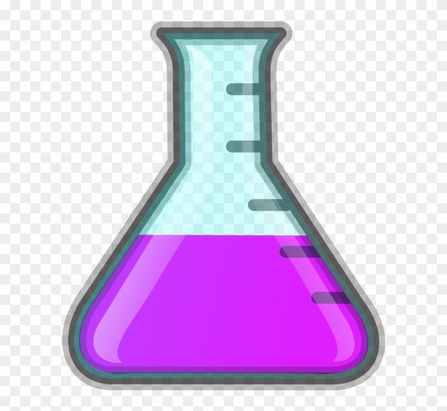 Laboratory flasks chemistry science. Experiment clipart flask