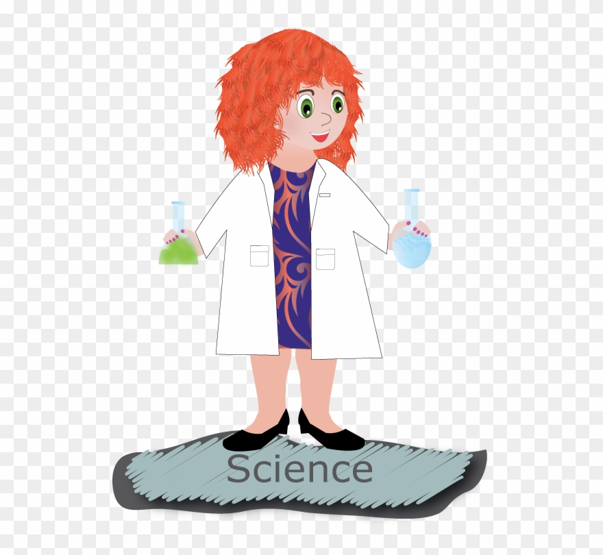Experiment clipart lady scientist. Woman cartoon png download
