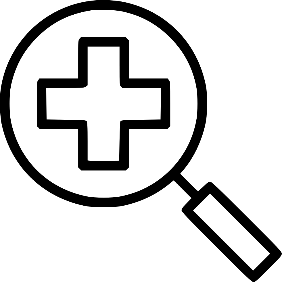 Experiment clipart magnifying glass. Search searching medicine healthcare