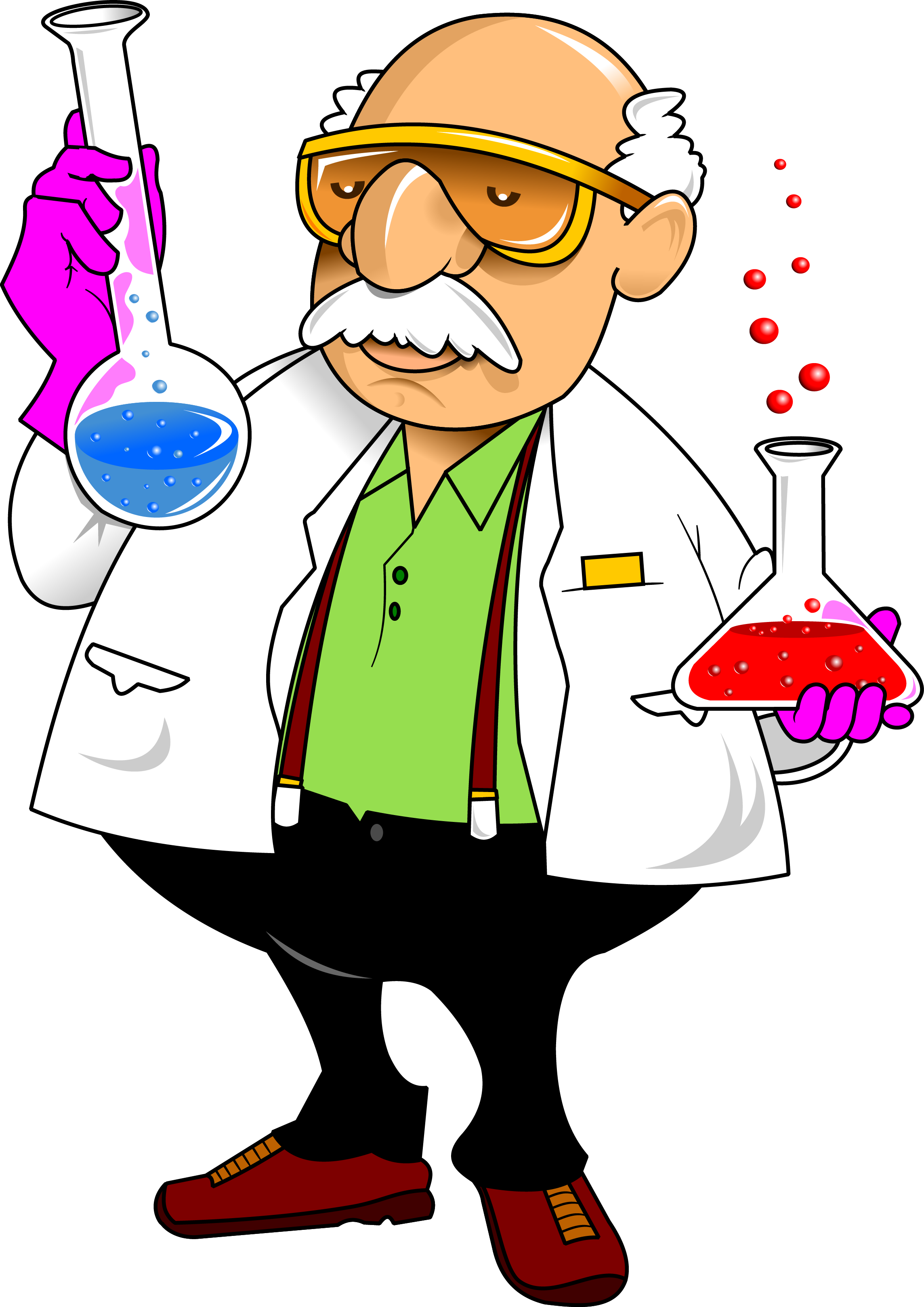 Laboratory chemistry cartoon science. Human clipart human sciences