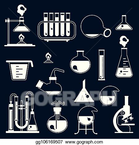 Lab clipart physical science. Vector stock set of
