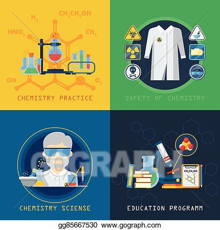 Experiment clipart practical. Vector stock chemistry x