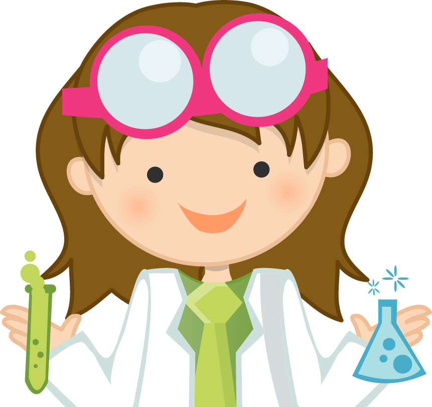 Science experiments for girls. Experiment clipart stem lab