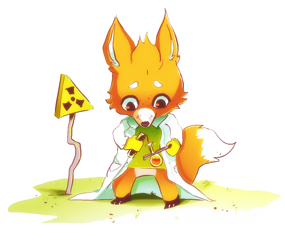 Experiment clipart student experiment. Fox by diamondmuffins on