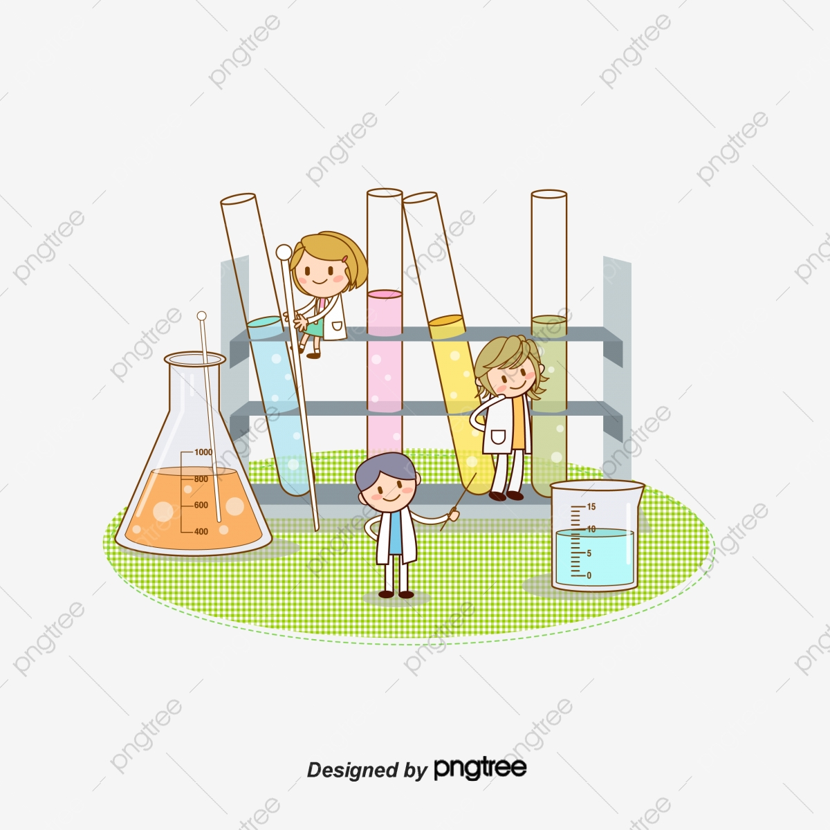Students chemical vector . Experiment clipart student experiment