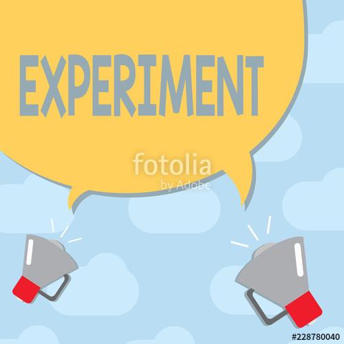 Experiment clipart test hypothesis. Text sign showing conceptual
