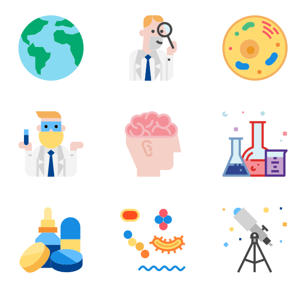 Experiment clipart vial. Chemistry icons free vector
